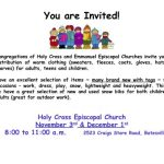 Batesville : Holy Cross & Emmanuel Episcopal Churches To Hold Warm Clothing Distribution Day