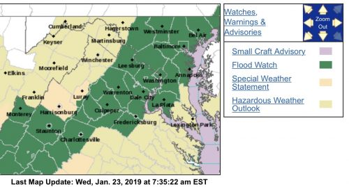 FLOOD WATCH : Parts Of Area This Evening Until Thursday Morning