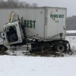 News Alert : Nelson : Jackknifed Semi Partially Blocks Route 151 in Afton (Roadway Clear 2:12 PM)