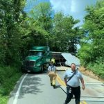 NELSON : TRAFFIC ALERT : UPDATED : 3:40 PM - Road Open : Another Truck Accident Blocks Route 664 Above Wintergreen Entrance