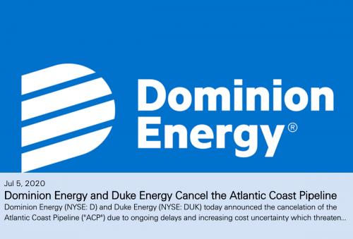 NEWS ALERT : Dominion Pulls The Plug On Atlantic Coast Pipeline