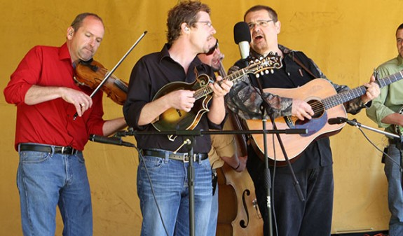 Junior Sisk and his band are stalwarts at the Chantilly Blue Grass Festival