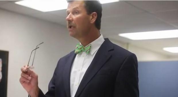 School superintendent Kevin Harris