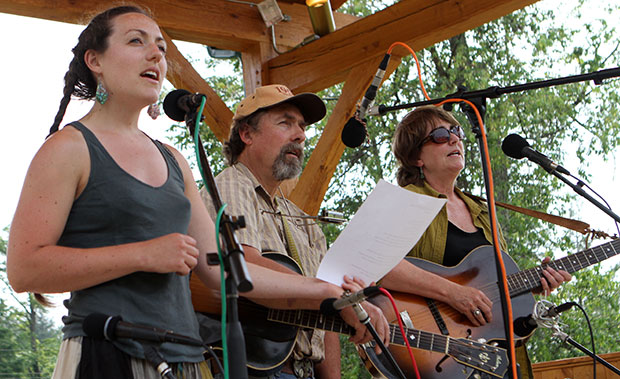 The Traynhams performing at an earlier concert in the park.