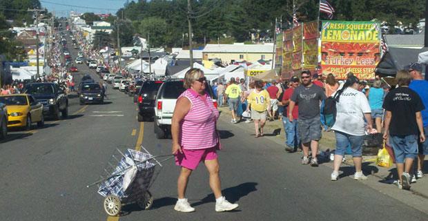 Hillsville during the Labor Day weekend flea market and gun show.