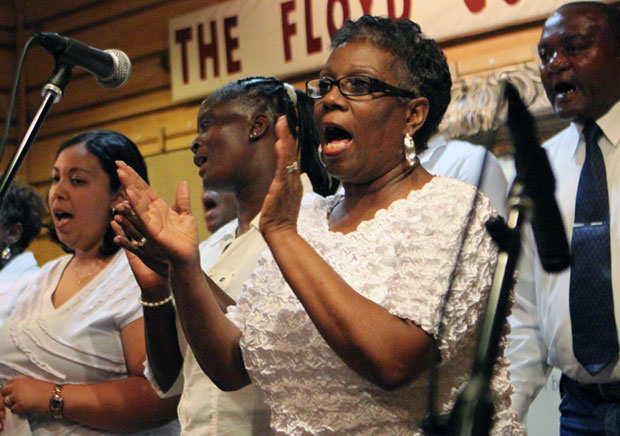The Little River Missionary Baptist Church choir provided rousing musical numbers.