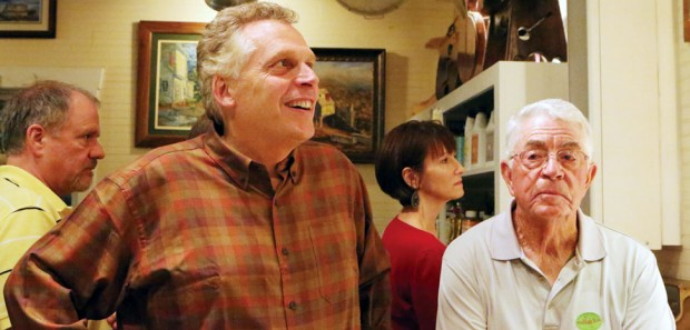 Terry McAuliffe campaigning in Floyd in 2013.