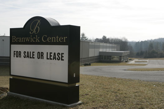 For Sale or Lease:  A sign that will return at Floyd's Commerce Park.