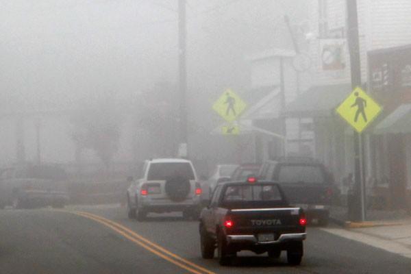 Fog in downtown Floyd