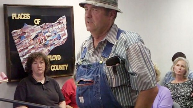 Citizen anger over the pipeline proposal at a Floyd County Board of Supervisors meeting.