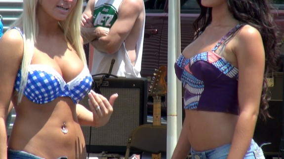 """""""Daisy Duke"""" contest at Black Bear Harley-Davidson in Wytheville over Memorial Day Weekend in 2012."""