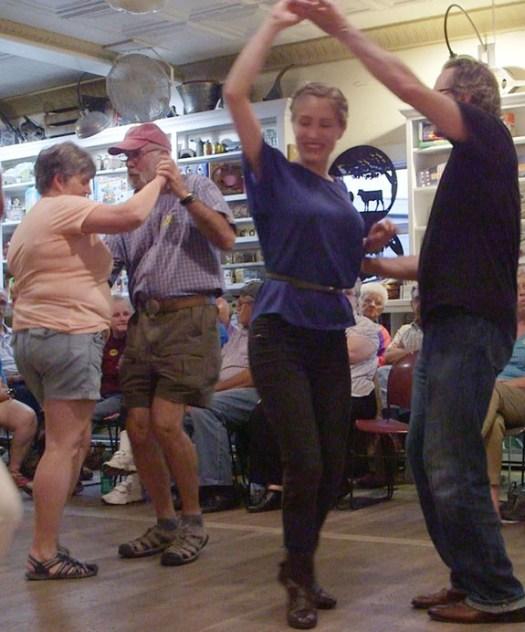 On the dance floor of The Friday Night Jamboree.
