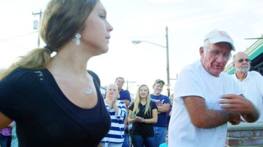 Dancing on the street on a Friday night in Floyd
