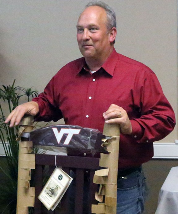 Retiring Sheriff Shannon Zeman and a rocking chair where he can spend part of the time.