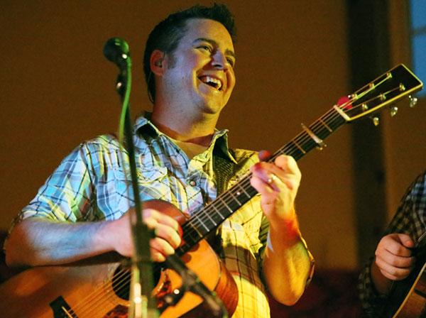 Brandon Rickman on guitar.