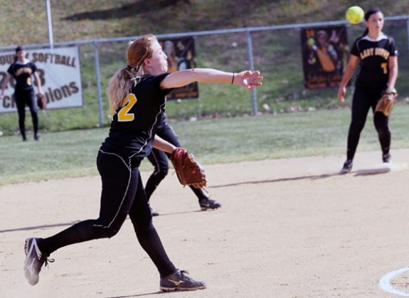More action on the softball field. (More photos in next week's Floyd Press.)