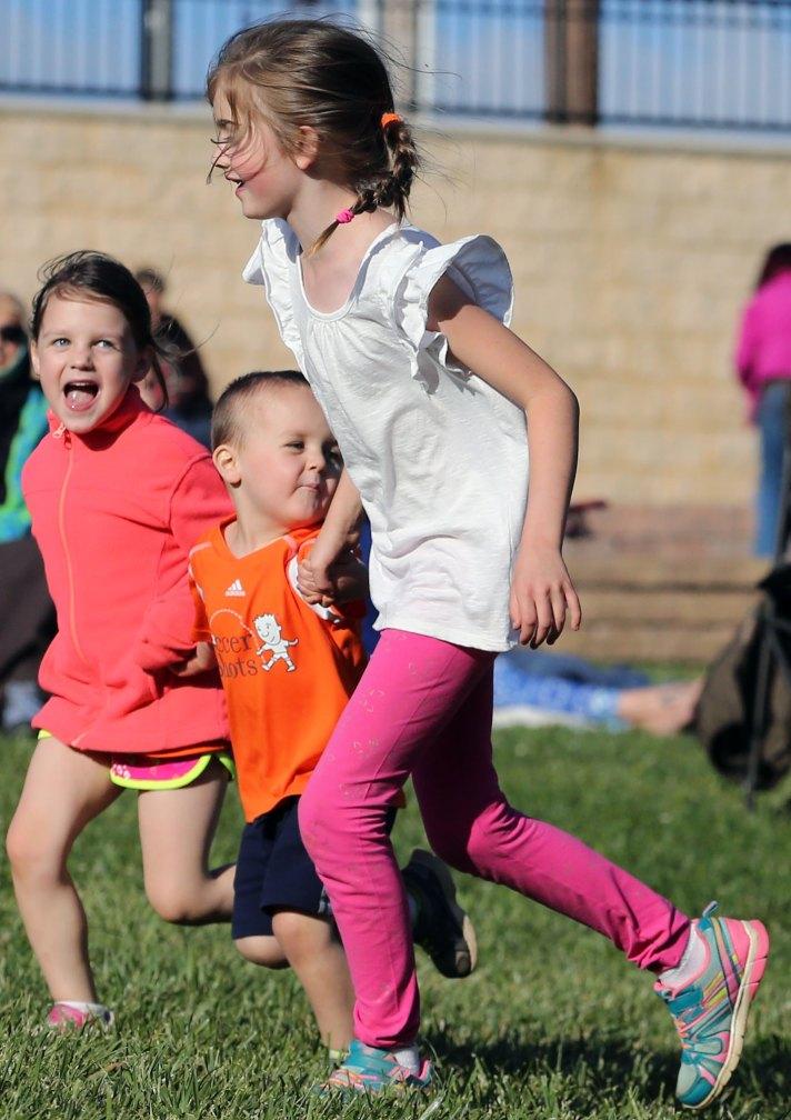 Kids having a good time.