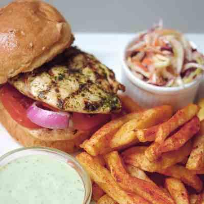 grill chicken burger