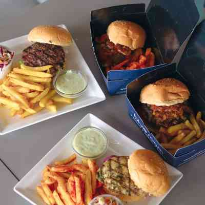 monster 4 burger and chips deal