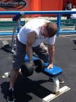 Trying a rep at Muscle Beach