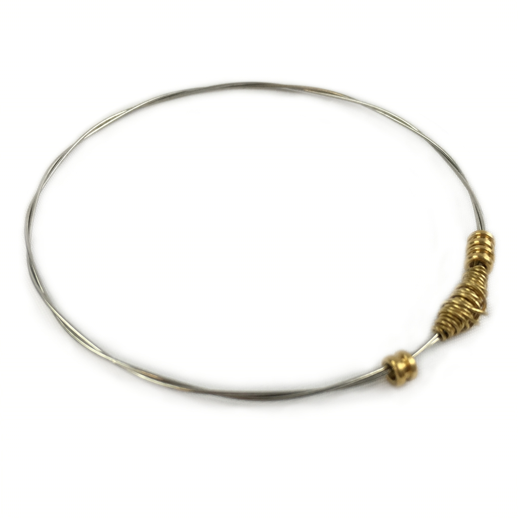Recycled Guitar String Thin Light Stackable Karma Bangle