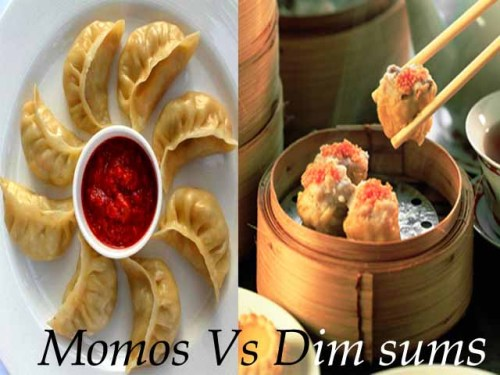 difference between momo dimsum