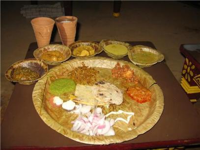 food at Chokhi Dhani