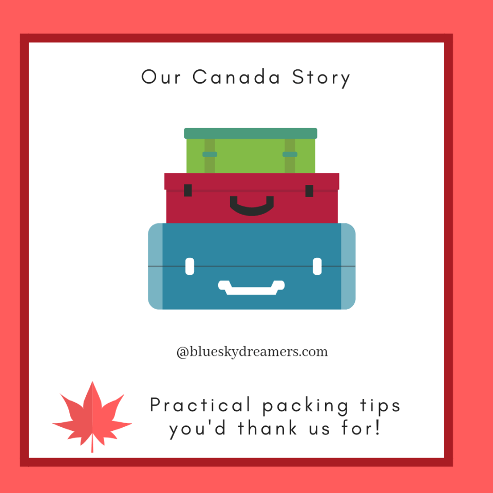 Packing Tips for moving to Canada