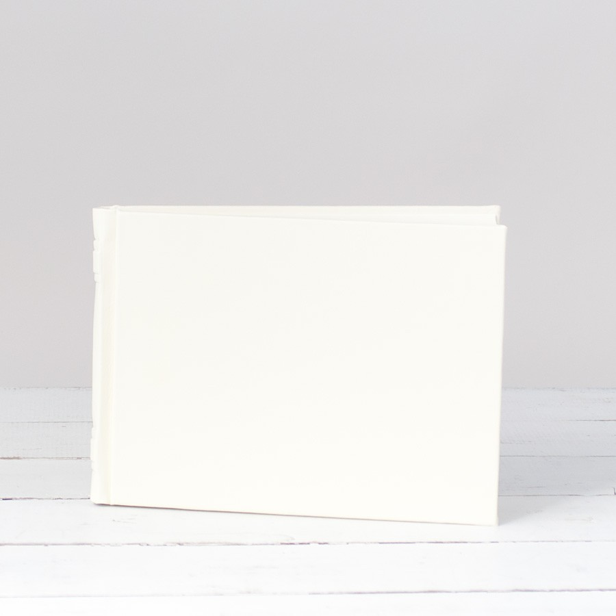 Italian Leather Guestbook By Blue Sky Papers