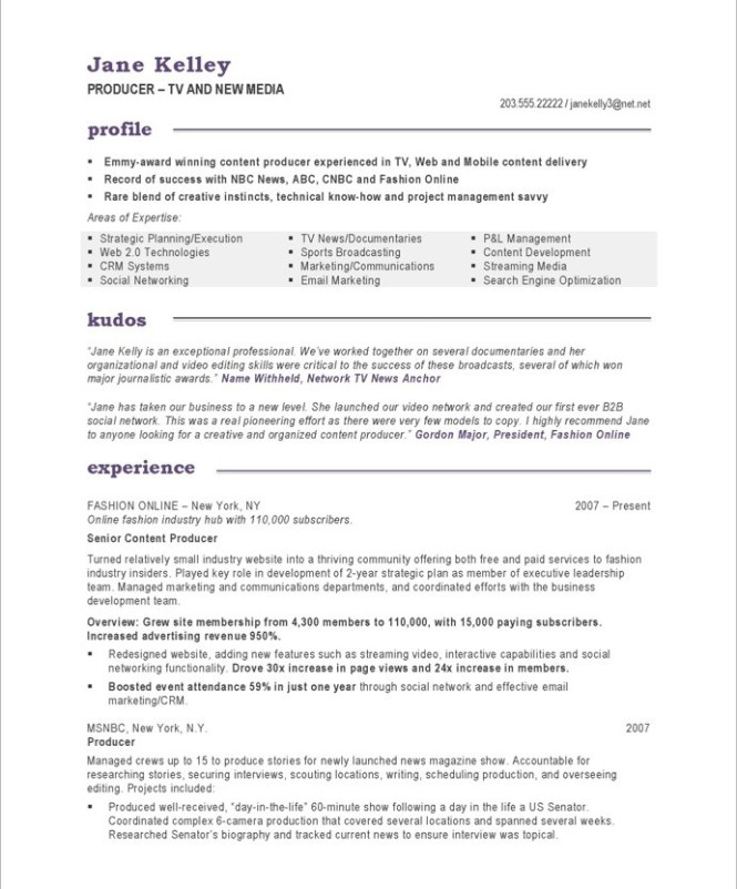 producer resume examples resume sample - Web Producer Resume