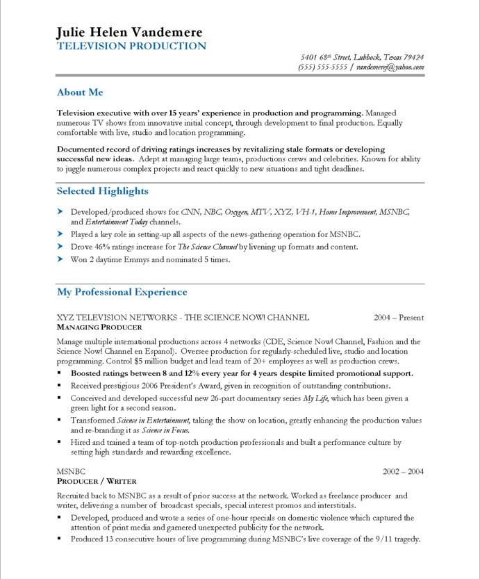 View Resumes sample teacher resumes view page two of this teacher assistant resume sample Tv Producer Free Resume Samples Blue Sky Resumes