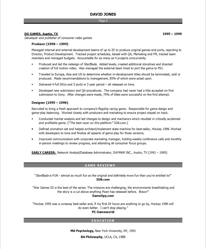 Video Producer Free Resume Samples Blue Sky Resumes
