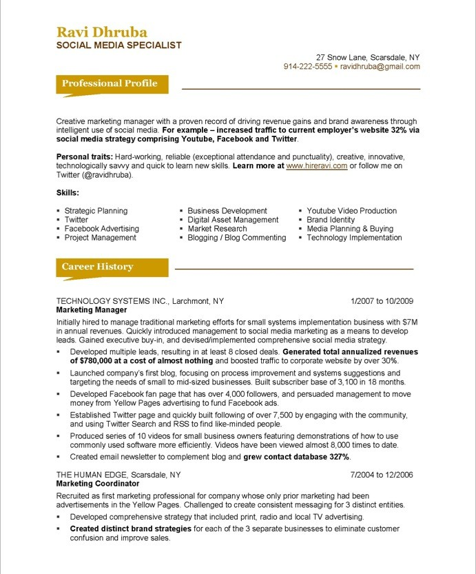 resume review remarks