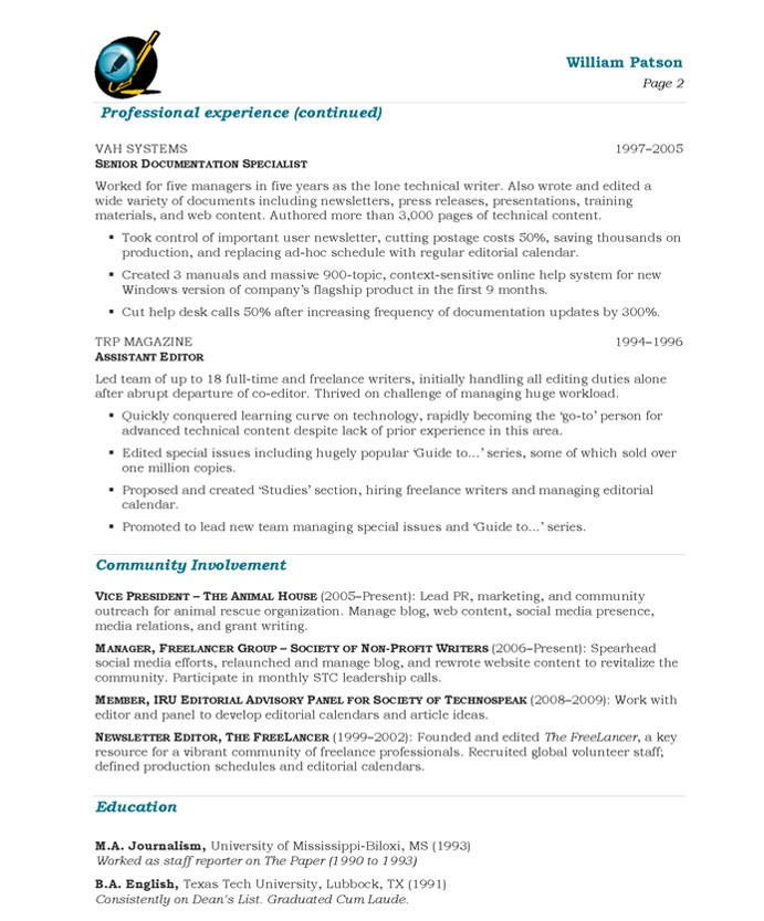 Translator Interpreter And Editor English Spanish Resume Samples  Film Editor Resume