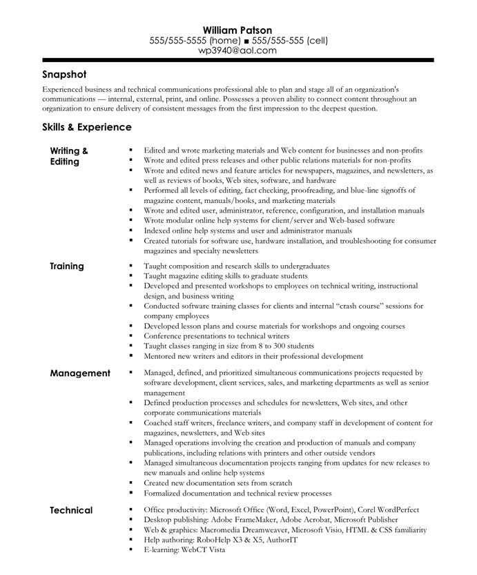 related post of magazine writer resume - Author Resume Sample