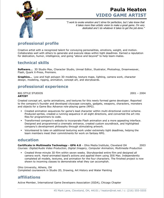 3d Artist Cv Template. graphic designer resumes best tips and ...