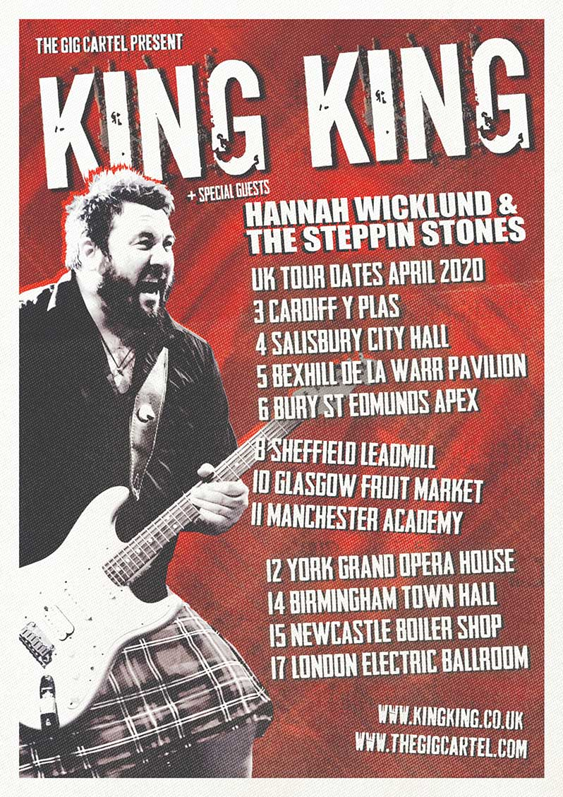 King King announce Hannah Wicklund & The Steppin Stones as special guests for April 2020 UK Tour