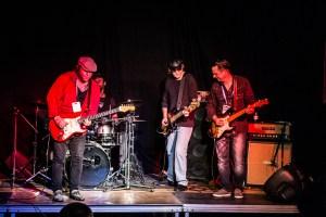 Vidar Busk, Alan Haynes og Kai Strauss (med Mads Dybdal Andersen på trommer). Foto: Frank Nielsen