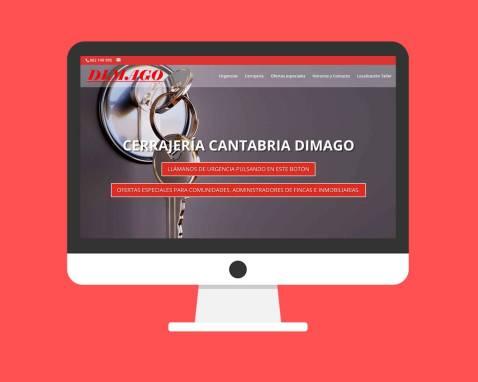 Página Web Cerrajería Cantabria Dimago