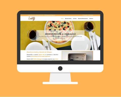 Diseño Web Pizzería Debiaggi