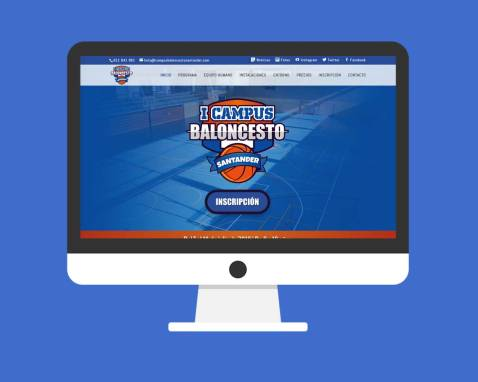Página Web Campus Baloncesto Santander
