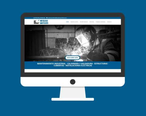 Página Web Metálicas San Felices