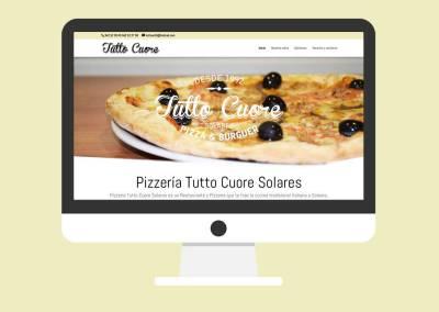Página Web Pizzería Tutto Cuore Solares
