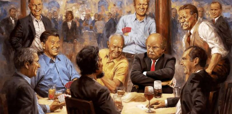 Donald Trump with other presidents anticipating the US midterms