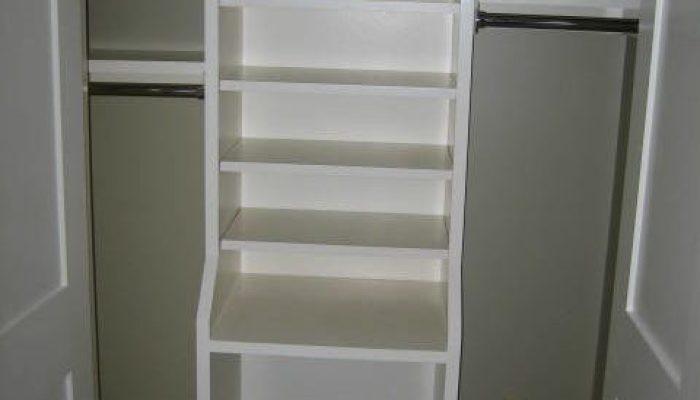 Closet shelving, closet organizer