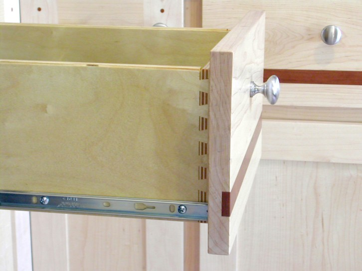 Dovetailed drawers, fine cabinets, woodworker