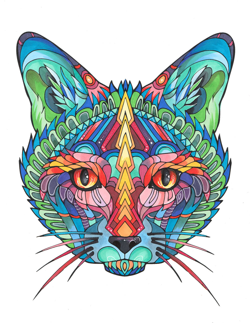Adult Coloring Book Stress Relieving Cats Celebration