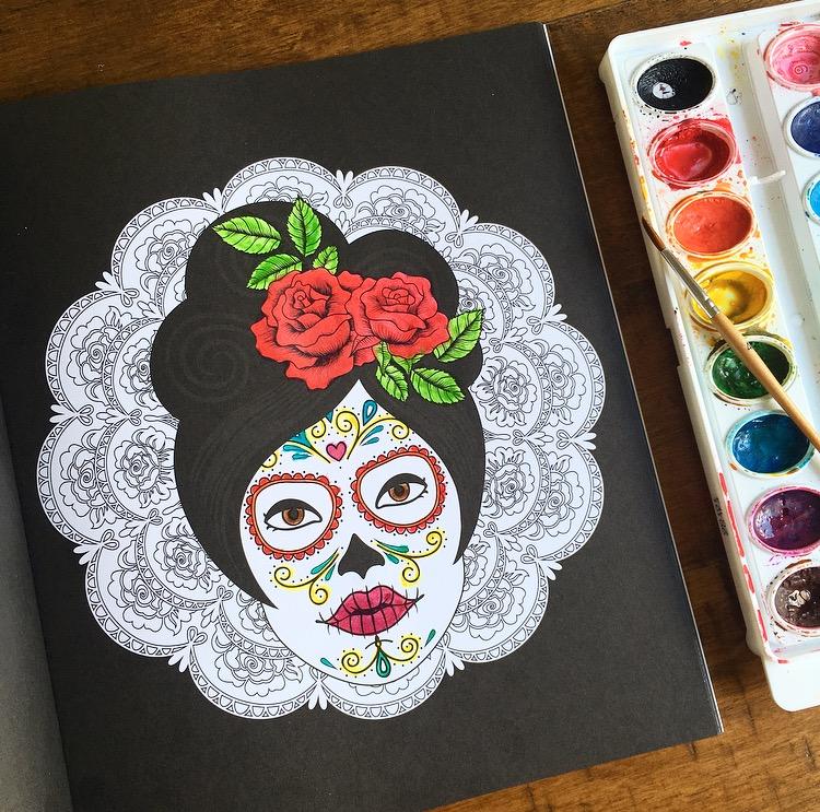 Dia De Los Muertos Day Of The Dead And Sugar Skull
