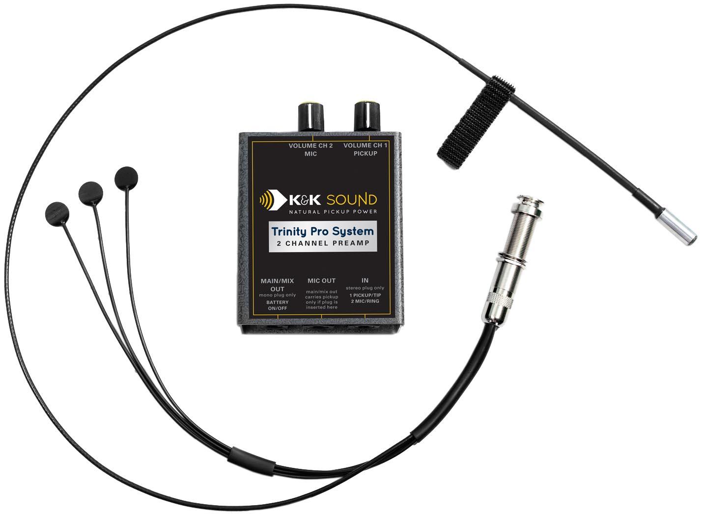 K Amp K Sound Trinity Mini Pro Guitar Pickup System W Mic And Phase Switch