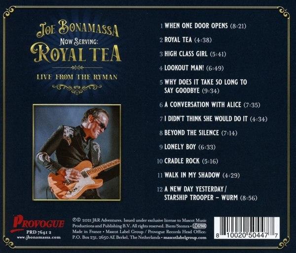 Joe Bonamassa – Now Serving Royal Tea Live From The Ryman - back